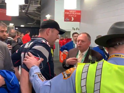 Patriots Fan Busted Using Security Jacket to Sneak Into Locker Room