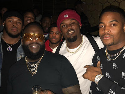 Rick Ross Rages With Patriots Players, Pop That Super Bowl Bubbly!