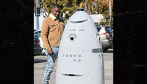 Jamie Foxx Confused and Amused by Robot Security in Malibu