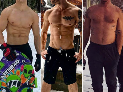 Shirtless Stars in Snow -- Guess Who!
