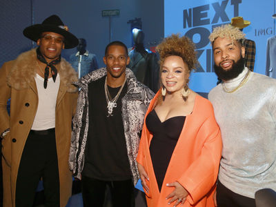 Cam Newton Hits NY Fashion Show With Odell Beckham