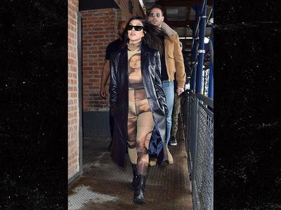 Kourtney Kardashian Wears 'Mona Lisa' Catsuit From Neck to Toe
