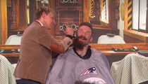 Julian Edelman Gets MVP Beard Shaved By Ellen DeGeneres!