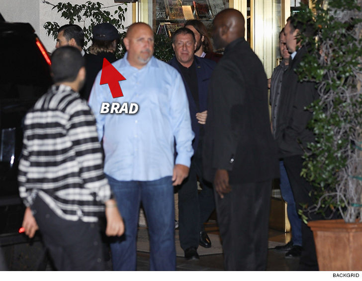 Brad Snaked Around Most Of The Paparazzi Saturday Night At Sunset Tower Hotel On Strip But You See Him From Behind As He Enters Building