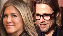 Brad Pitt Shows Up for Jennifer Aniston's 50th Birthday Party