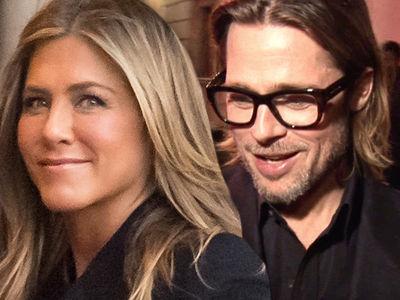 Brad Pitt Shows Up for Jennifer Aniston's 50th Birthday Party