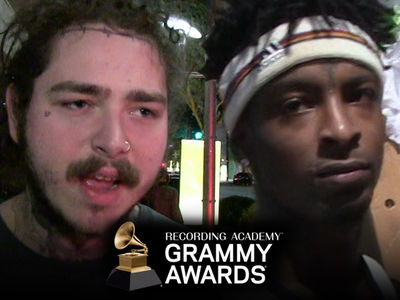 Post Malone Shows Support for 21 Savage During 2019 Grammys