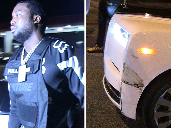 Meek Mill's Rolls-Royce Phantom Gets in Accident at L.A ...