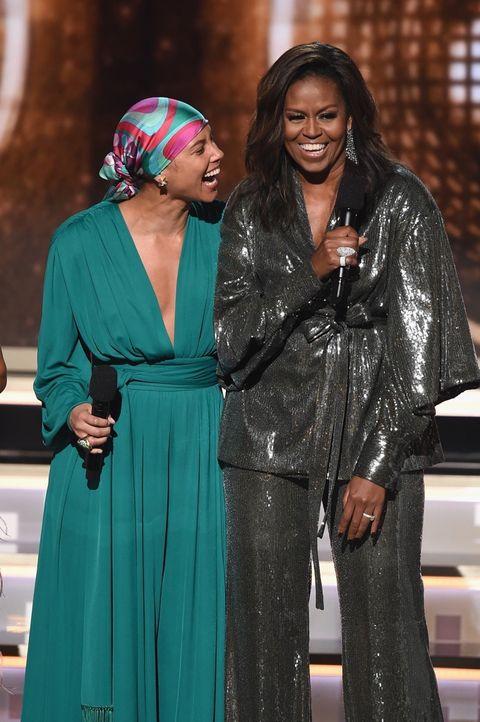 Alicia Keys and Michelle Obama