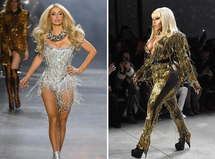 Paris Hilton & Lil' Kim Walk The Blonds Runway At NYFW