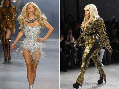 Paris Hilton & Lil' Kim Walk The Blonds Runway At NYFW
