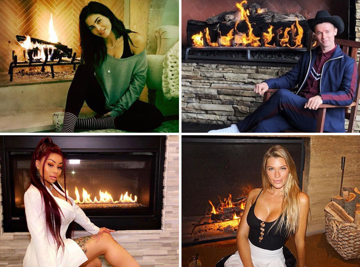 Hot Stars By The Fire ... It's Lit!
