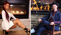 Hot Stars By The Fire ... Check Out The Lit Pics!