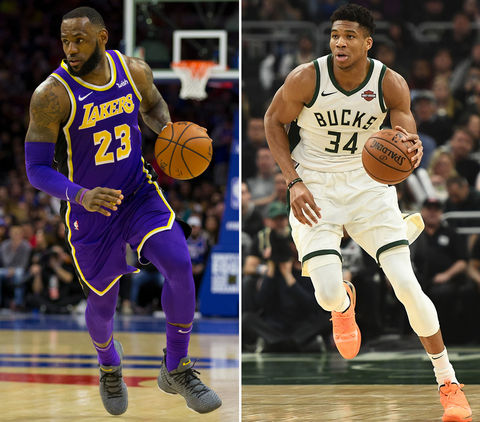 LeBron James (34) vs. Giannis Antetokounmpo (24) -- NBA All-Star Edition