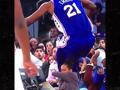 Joel Embiid Narrowly Avoids Destroying Regina King at Knicks Game