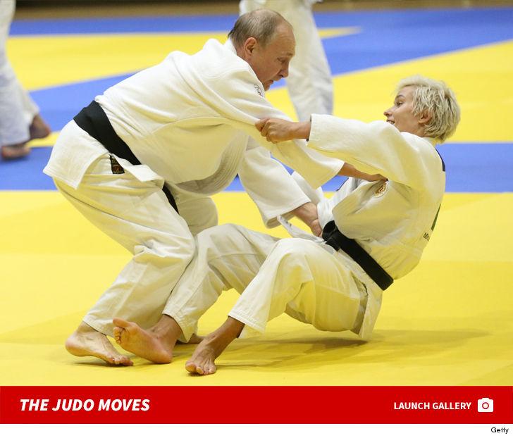 Vladimir Putin Flips Out w/ Russian Judo Babe