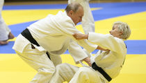 Vladimir Putin Hits the Judo Mats with Russian Olympic Babe