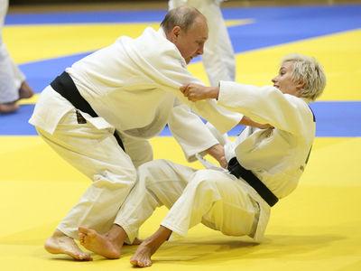 Vladimir Putin Hits the Judo Mats with Russian Olympic Babe