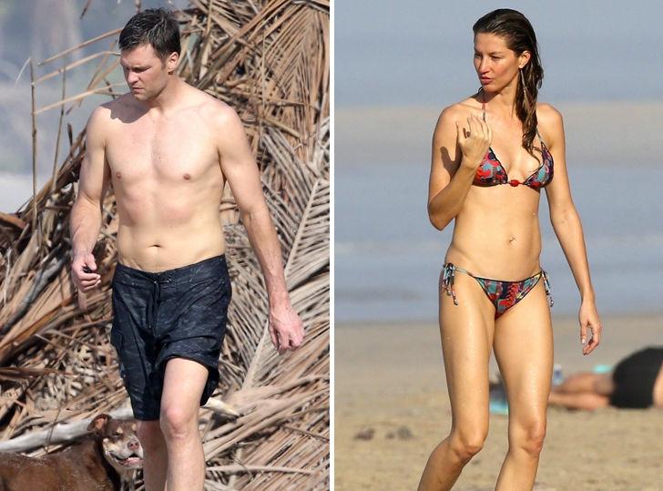 Tom Brady & Gisele Flaunt Sexy Bods In Costa Rica Beach Session
