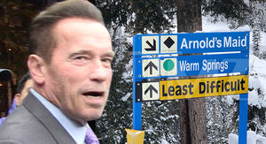 Arnold Schwarzenegger Pranked with 'Arnold's Maid' Ski Run in Idaho