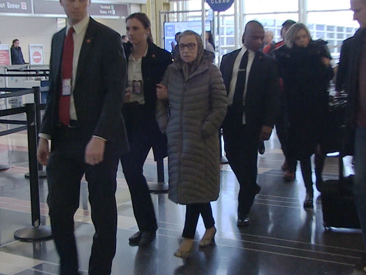 Image result for Ginsburg in airport