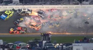 Watch Massive Wreck Wipe Out 18 Cars During Final Stages Of Daytona 500
