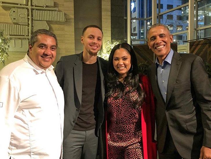 Barack Obama All-Star Dinner With Steph & Ayesha, John & Chrissy