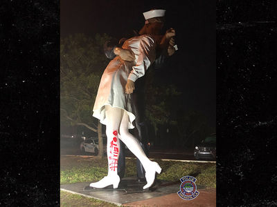 WWII V-J Day Sailor-Kissing Nurse Statue Defaced with #MeToo After His Death