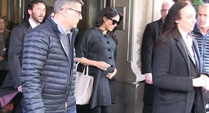 Meghan Markle Outside Her Baby Shower in New York City