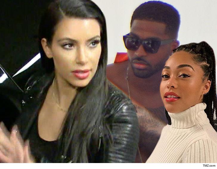 fab02143541 Kim Kardashian Unfollows Tristan and Jordyn on Instagram