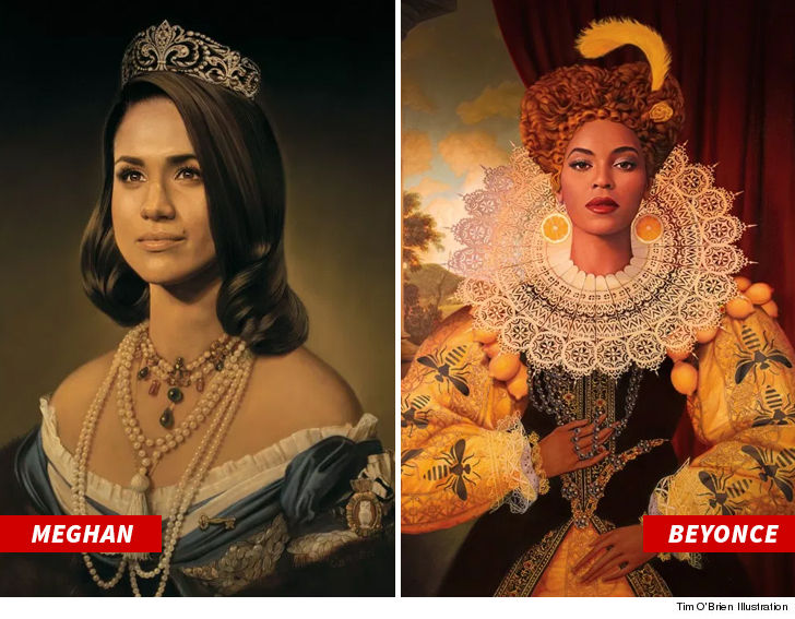 Beyonce & Jay-Z Didn't Drop $$ for Meghan Painting ... But Artist Says It's Cool!!!
