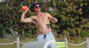 Peyton Manning Goes Topless, Hairless In Miami…