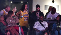 Rihanna Takes Rich BF to Lakers Game, Team Delivers Comeback Victory