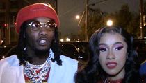 Offset, Cardi B Floss Diamonds Hitting Up 'Father of 4' Album Release Party