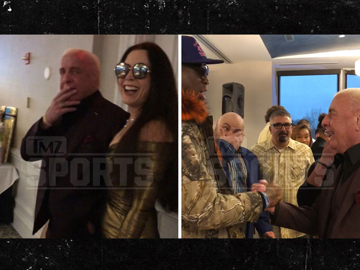 Ric Flair Has Surprise 70th Bday W Charles Barkley Todd