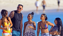 Lil' Kim, Chilli and Mya on the Beach to Shoot New VH1 TV Show in Barbados