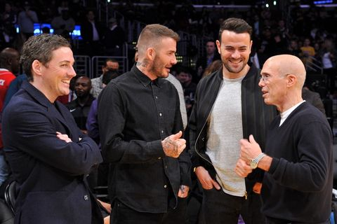 David Beckham and Jeffrey Katzenberg