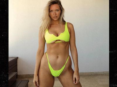 Rob Gronkowski's GF Camille Kostek Flaunts Tiny Neon Bikini in Cabo