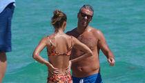 Ex-NHL Star Petr Nedved Hits the Beach with Bikini Model