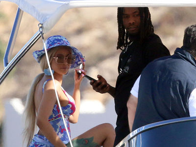 Cardi B and Offset Together on a Yacht in Mexico