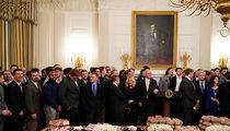Donald Trump Serves Fast Food Buffet For North Dakota St. Football Team