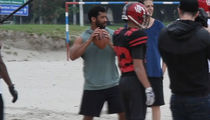 Russell Wilson Plays QB For Brazilian Football Team, Drops Beach Dime!