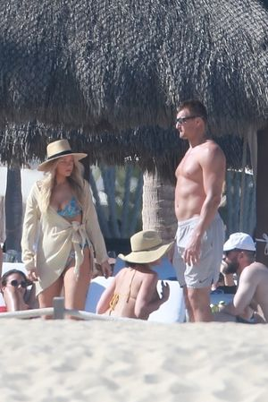 Rob Gronkowski and Camille Kostek -- Hot Cabo Couple