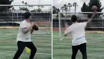 Johnny Manziel Hits Football Field After CFL Cut, Shows Off Arm!