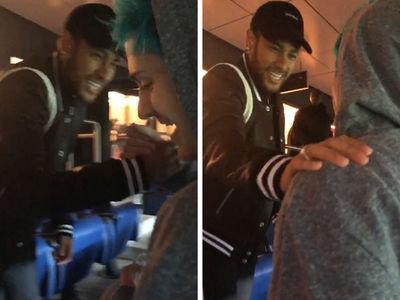 Neymar Surprises Ninja at PSG Game!