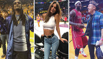 Courtside Celebs ... Check Out The NBA's Famous Fans!