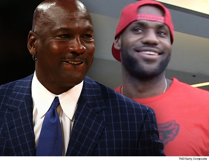 cheap for discount d6641 373b9 Michael Jordan is giving props to LeBron James after passing him on the  NBA s all-time scoring list ... calling it