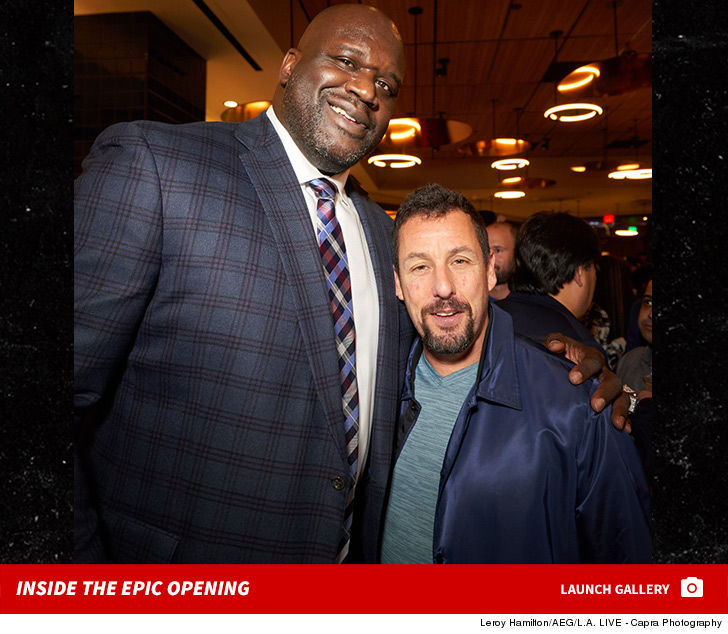 Shaq Opens Restaurant Next to Staples!!! ... Big Stars Attend Opening