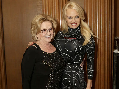 Pamela Anderson, Mom Look Proud as Foundation Raises Over $50k