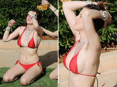 Bella Thorne Bikini Pics Ooze Sex, Beer and Armpit Hair!